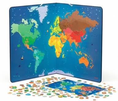 Imagen de un mapamundi magnético